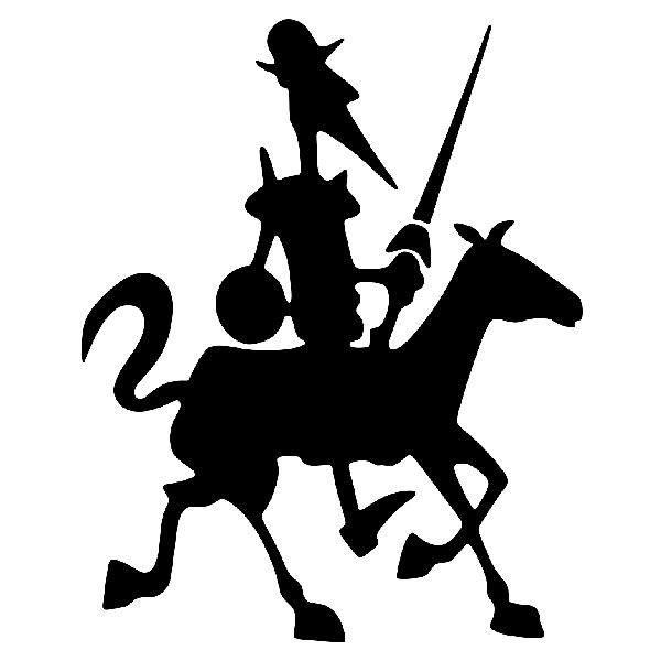 Autocollants: Don Quichotte