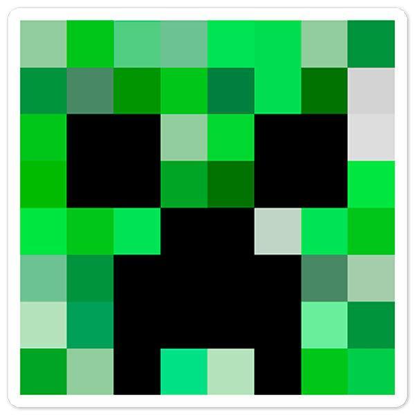 Stickers muraux: Tête Minecraft 1