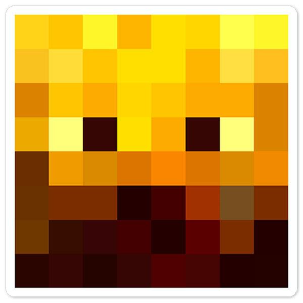Stickers muraux: Tête Minecraft 3