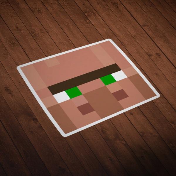 Stickers muraux: Tête Minecraft 4