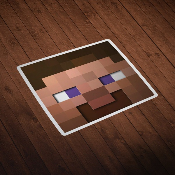 Stickers muraux: Tête Minecraft 6