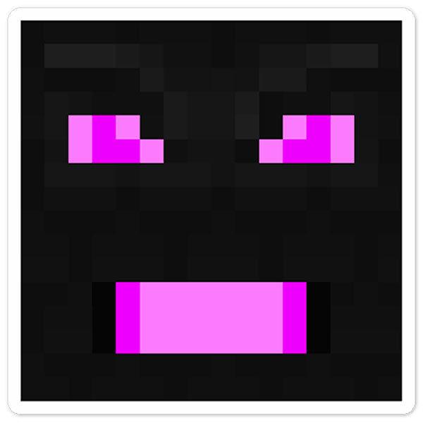 Stickers muraux: Tête Minecraft 7