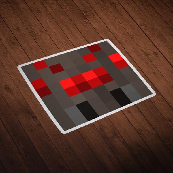 Stickers muraux: Tête Minecraft 8