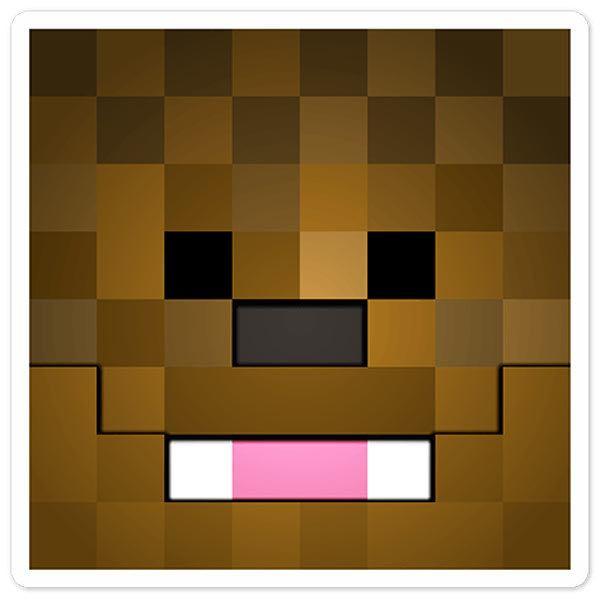 Stickers muraux: Tête Minecraft 9
