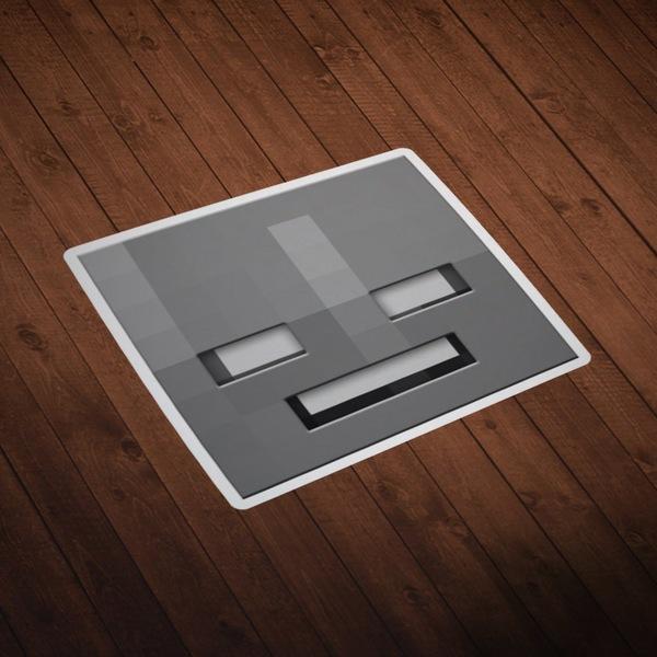Stickers muraux: Tête Minecraft 10
