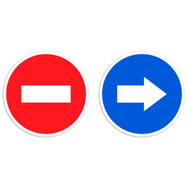 Autocollants: Signaux de trafic