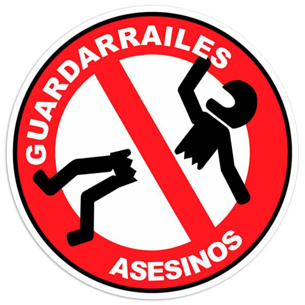 Autocollants: Stop Guardarrailes Asesinos