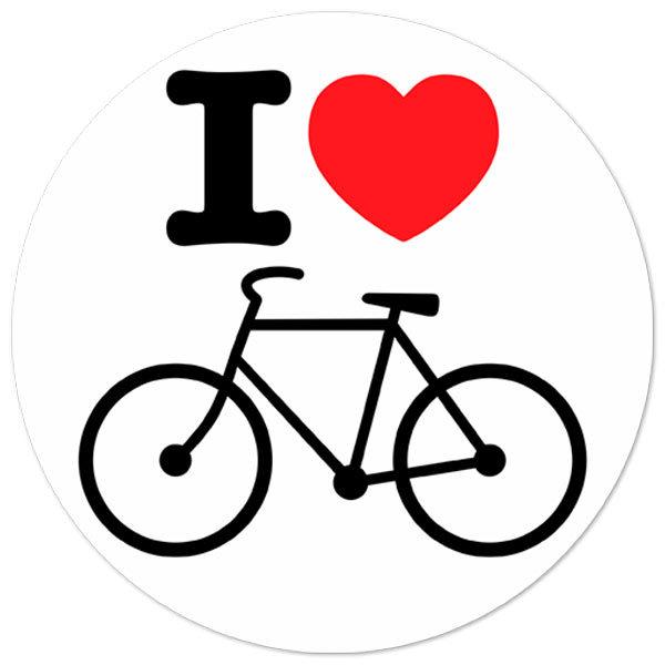 Autocollants: Je adore le vélo