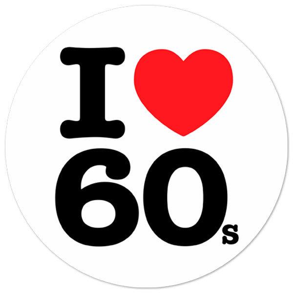 Autocollants: I love 60s