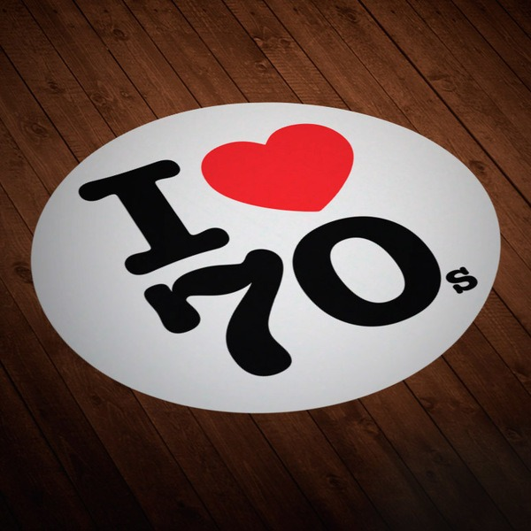 Autocollants: I love 70s