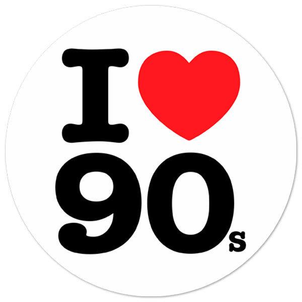 Autocollants: I love 90s