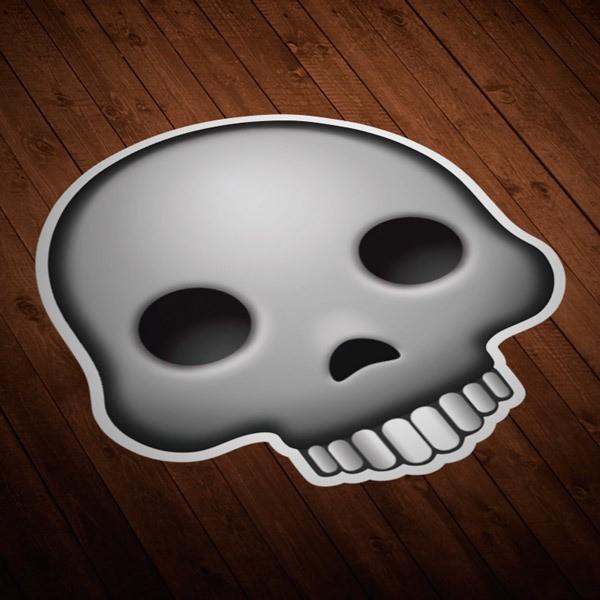 Autocollants: Crâne humain