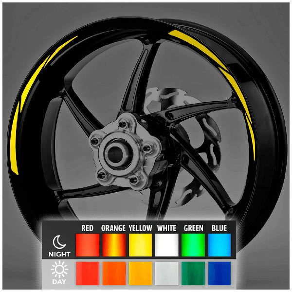 Autocollants: Kit liseret reflechissant jante MotoGP Style 2