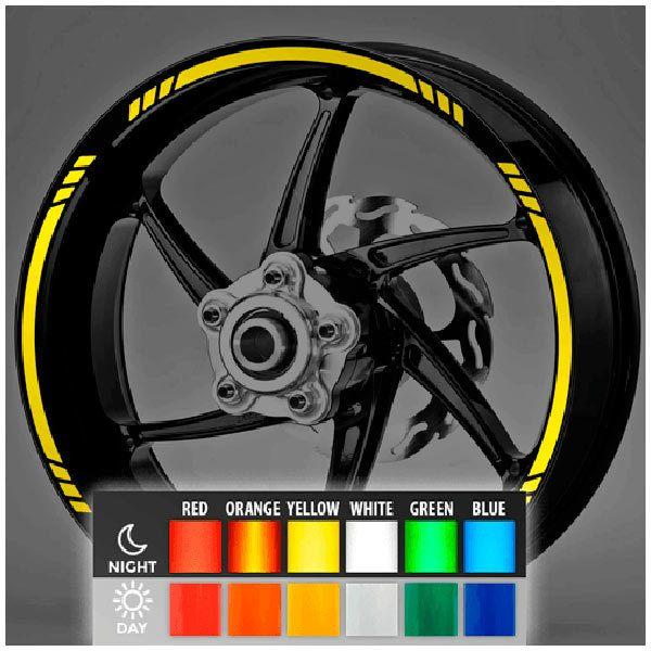 Autocollants: Kit liseret reflechissant jante MotoGP Style 3