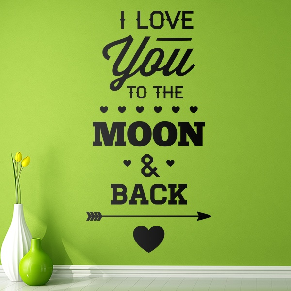 Stickers muraux: I Love You to the Moon