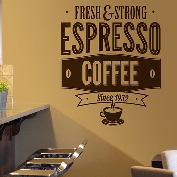 Stickers muraux: Fresh & Strong Espresso Coffee