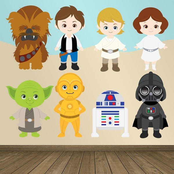 Stickers pour enfants: Kit Star Wars