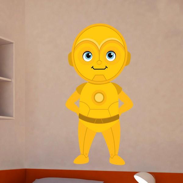 Stickers pour enfants: C3PO sourire