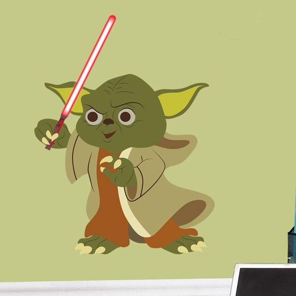 Stickers pour enfants: Yoda épée