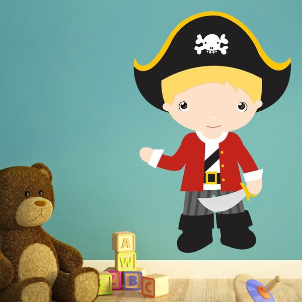 Stickers pour enfants: Capitaine blond