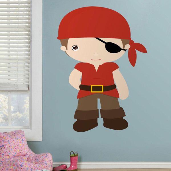 Stickers pour enfants: Boucanier Rouge