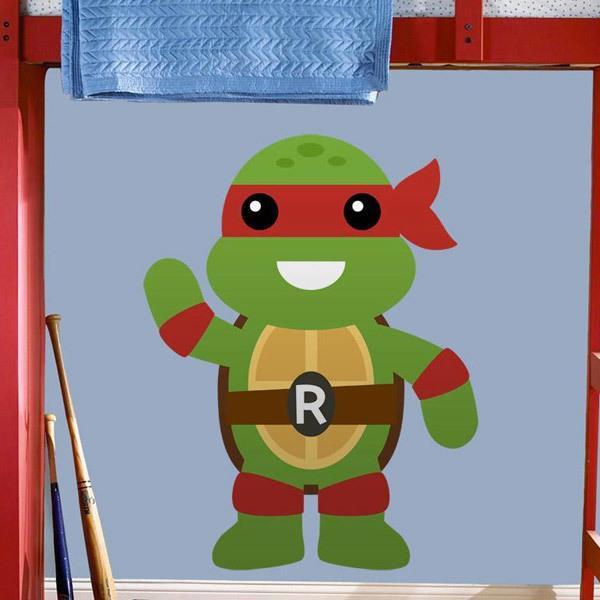 Stickers pour enfants: Tortue Ninja Rafhael