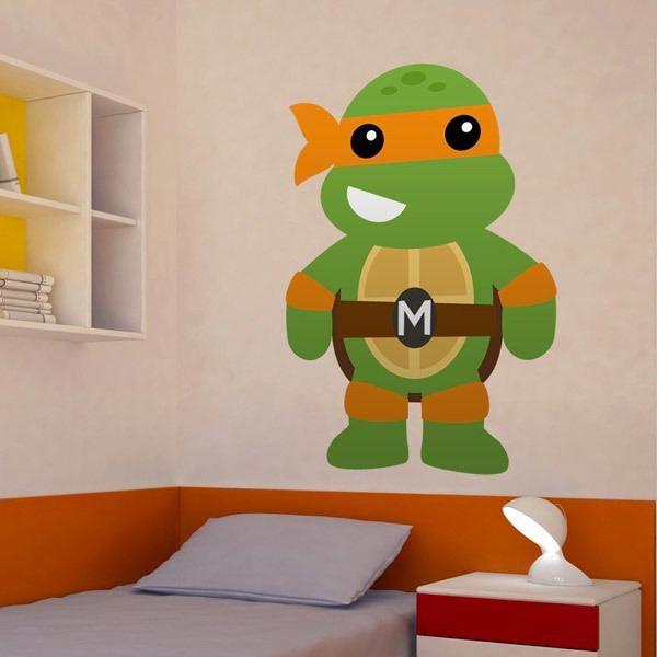 Stickers pour enfants: Tortue ninja  Michelangelo