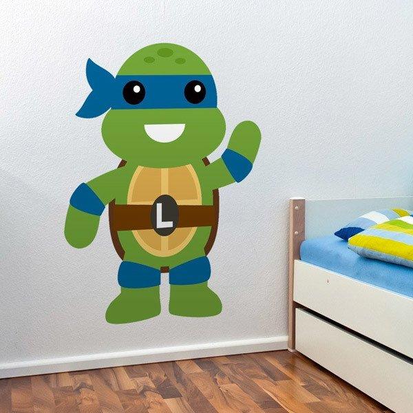 Stickers pour enfants: Tortue Ninja Leonardo