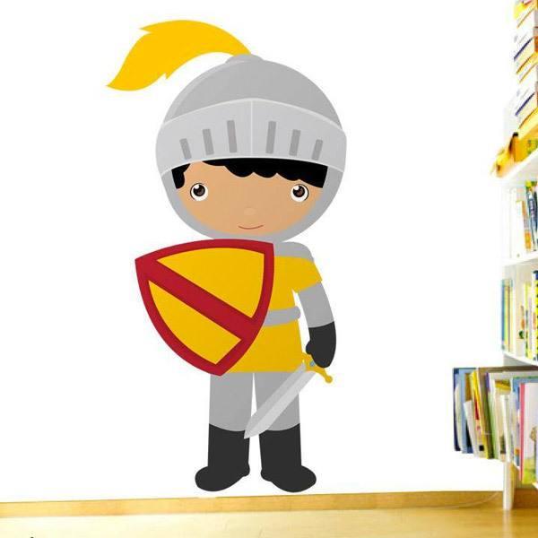 Stickers pour enfants: Jaune chevalier