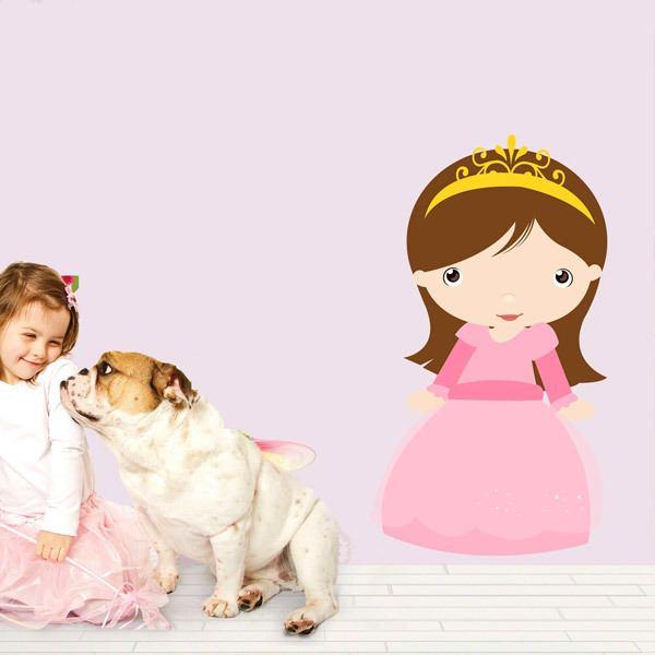 Stickers pour enfants: Princesse châtaigne