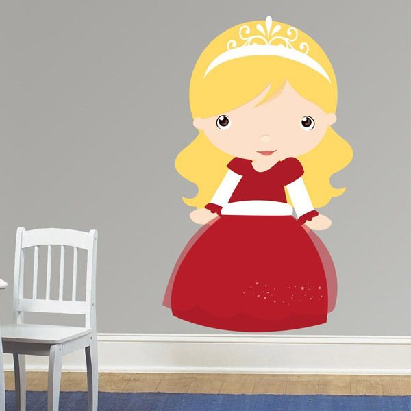 Stickers pour enfants: Princesse blond