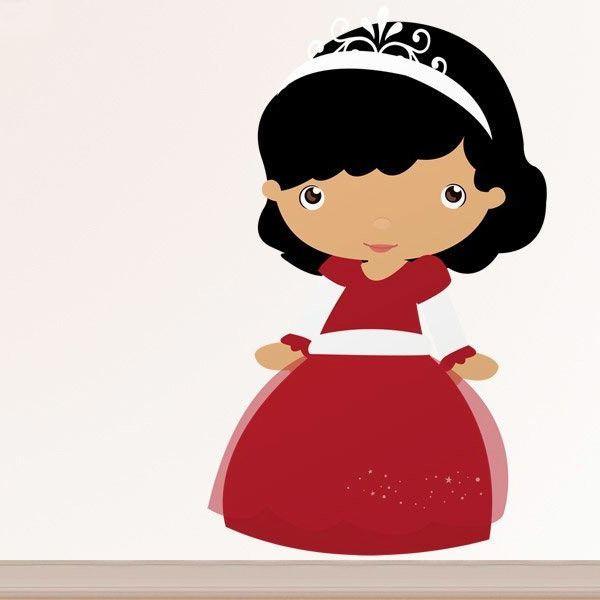 Stickers pour enfants: Brune princesse