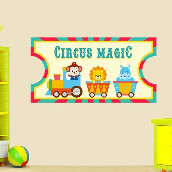 Stickers pour enfants: Cirque Ticket 2