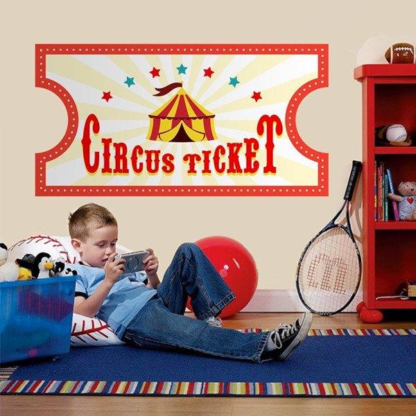 Stickers pour enfants: Cirque Ticket 4