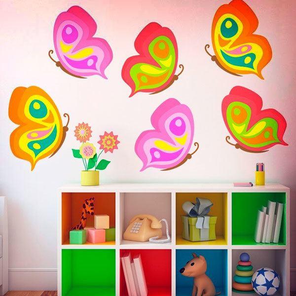 Stickers pour enfants: Papillons kit 6