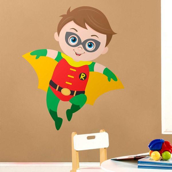 Stickers pour enfants: Robin vol