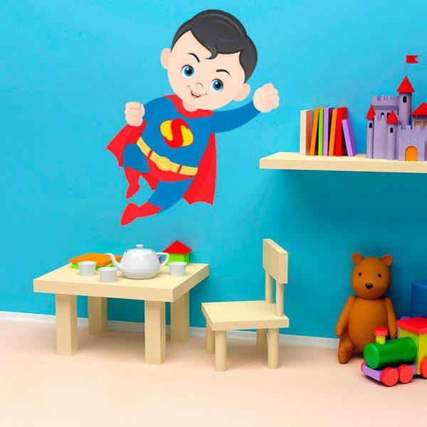Stickers pour enfants: Superman vol
