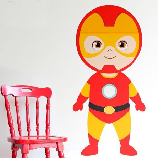 Stickers pour enfants: Ironman debout