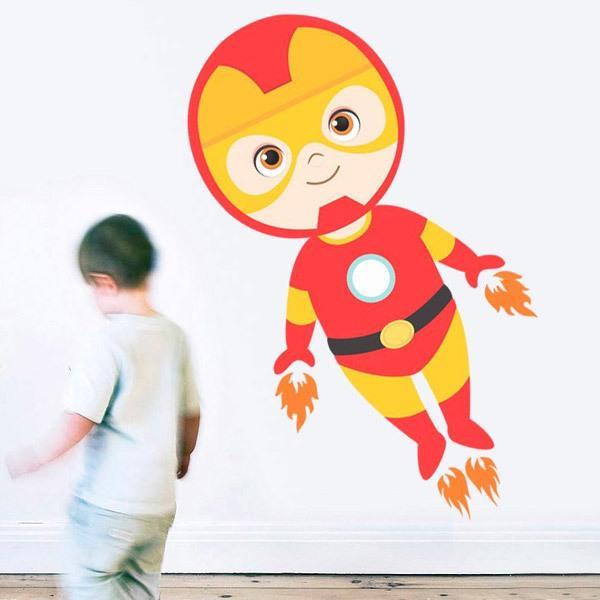 Stickers pour enfants: Ironman vol