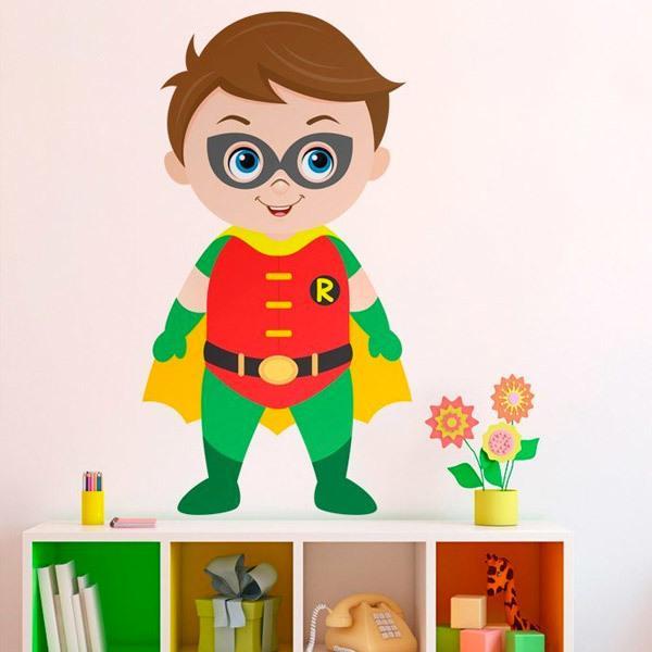 Stickers pour enfants: Robin debout