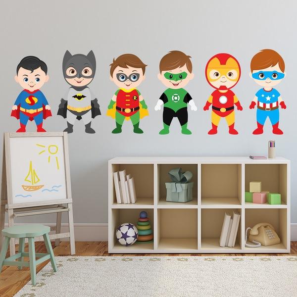 Stickers pour enfants: Héros Kit debout