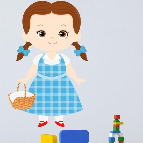 Stickers pour enfants: Dorothy Magicien du Oz panier
