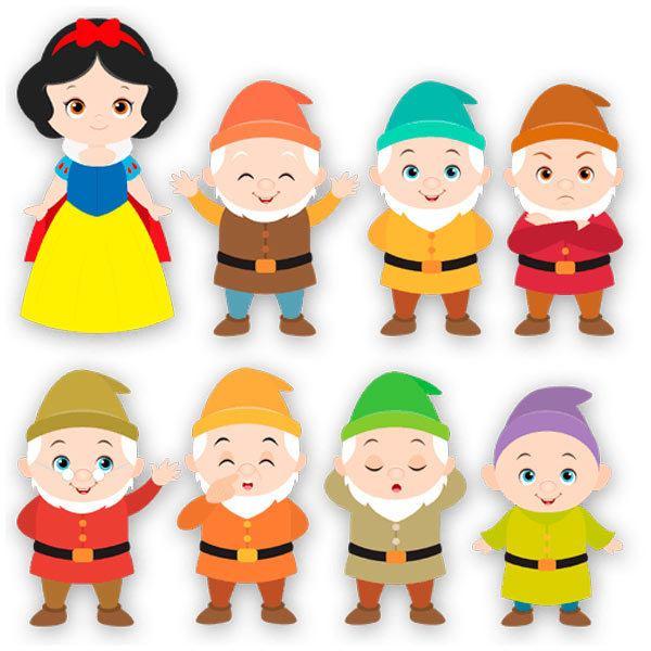 Stickers pour enfants: Kit Blanche-Neige et les Sept Nains