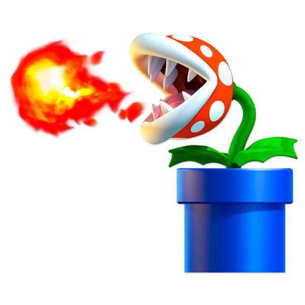 Stickers pour enfants: Usine de Piranha crache du feu