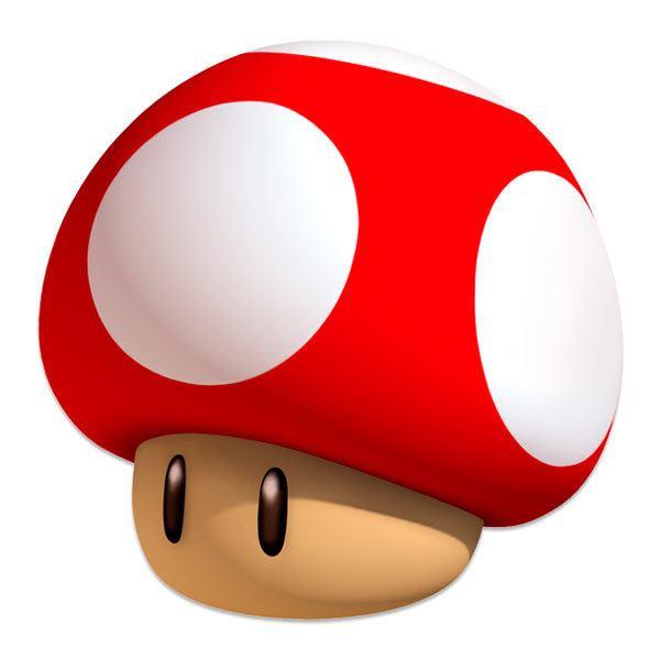 Stickers pour enfants: Mario mushroom