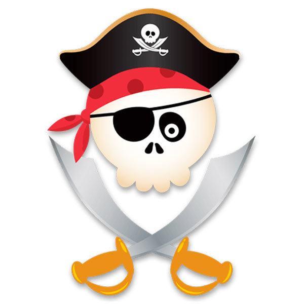 Stickers pour enfants: Le crâne de pirate pour enfants
