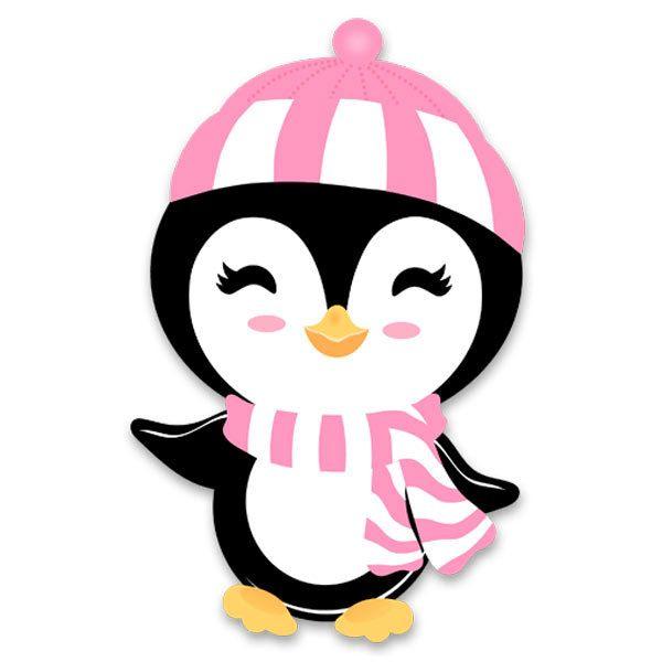 Stickers pour enfants: Penguin chapeau de plage