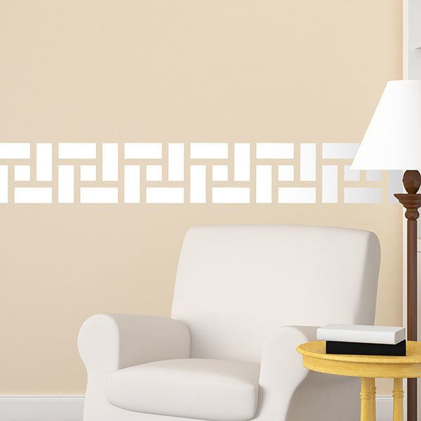 Stickers muraux: Frise grecque rectangles