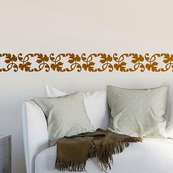Stickers muraux: Frise feuilles de vigne