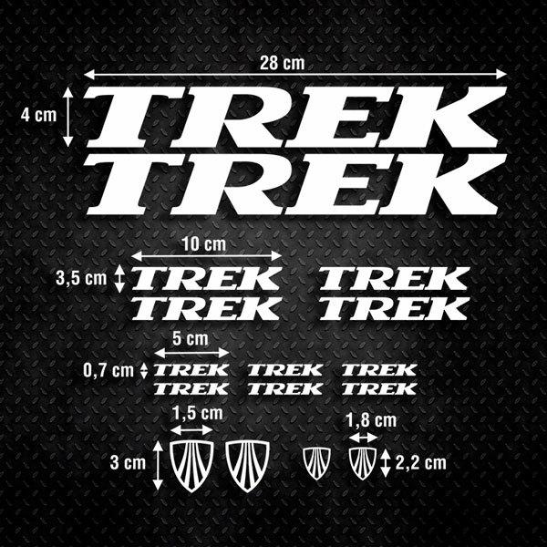 Autocollants: Kit Vélo VTT Trek 1